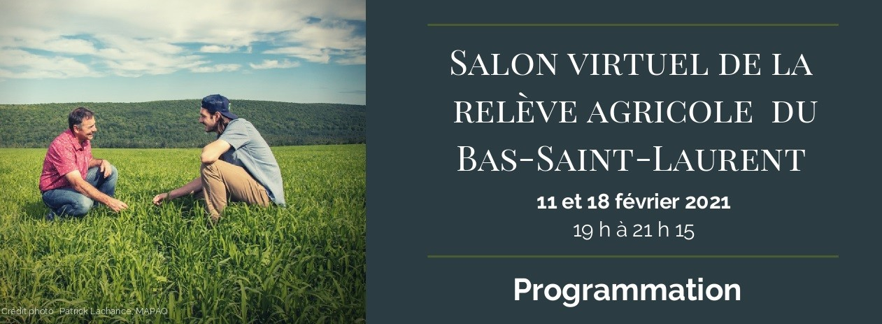 Salon virtuel de la relève agricole du Bas-Saint-Laurent